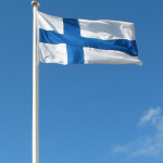 Finnish flag flying by Janne Karaste