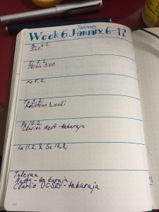 bullet journal weekly page